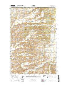 The Horse Ranch Montana Current topographic map, 1:24000 scale, 7.5 X 7.5 Minute, Year 2014