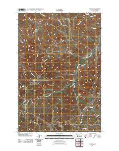 The Knob Montana Historical topographic map, 1:24000 scale, 7.5 X 7.5 Minute, Year 2011