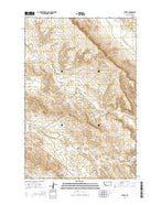 Thebes Montana Current topographic map, 1:24000 scale, 7.5 X 7.5 Minute, Year 2014 from Montana Map Store