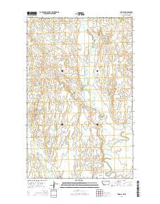 Thoeny Montana Current topographic map, 1:24000 scale, 7.5 X 7.5 Minute, Year 2014
