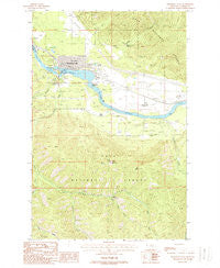 Thompson Falls Montana Historical topographic map, 1:24000 scale, 7.5 X 7.5 Minute, Year 1988