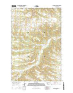 Thompson Coulee Montana Current topographic map, 1:24000 scale, 7.5 X 7.5 Minute, Year 2014 from Montana Map Store