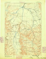 Three Forks Montana Historical topographic map, 1:250000 scale, 1 X 1 Degree, Year 1888