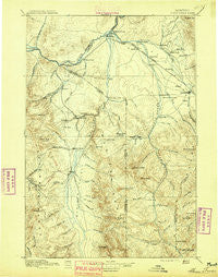Three Forks Montana Historical topographic map, 1:250000 scale, 1 X 1 Degree, Year 1895