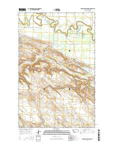 Threemile Reservoir Montana Current topographic map, 1:24000 scale, 7.5 X 7.5 Minute, Year 2014