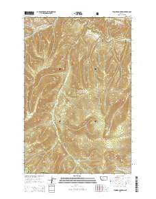Thunder Mountain Montana Current topographic map, 1:24000 scale, 7.5 X 7.5 Minute, Year 2014