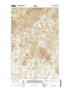 Tiger Butte Montana Current topographic map, 1:24000 scale, 7.5 X 7.5 Minute, Year 2014