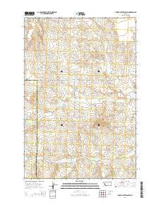 Timber Buttes South Montana Current topographic map, 1:24000 scale, 7.5 X 7.5 Minute, Year 2014