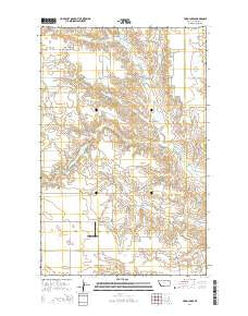 Todd Lakes Montana Current topographic map, 1:24000 scale, 7.5 X 7.5 Minute, Year 2014