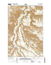 Toney Bench Montana Current topographic map, 1:24000 scale, 7.5 X 7.5 Minute, Year 2014 from Montana Maps Store