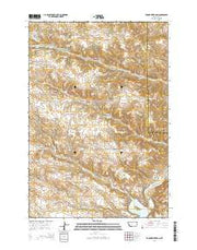 Tongue River Dam Montana Current topographic map, 1:24000 scale, 7.5 X 7.5 Minute, Year 2014 from Montana Maps Store