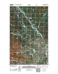 Trailcreek Montana Historical topographic map, 1:24000 scale, 7.5 X 7.5 Minute, Year 2011
