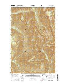 Trilobite Peak Montana Current topographic map, 1:24000 scale, 7.5 X 7.5 Minute, Year 2014