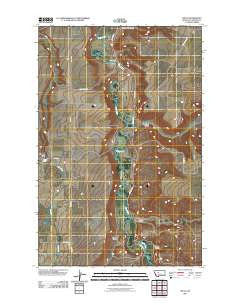 Truly Montana Historical topographic map, 1:24000 scale, 7.5 X 7.5 Minute, Year 2011