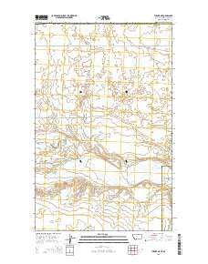 Turner NE Montana Current topographic map, 1:24000 scale, 7.5 X 7.5 Minute, Year 2014