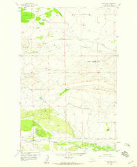 Twin Lakes Montana Historical topographic map, 1:24000 scale, 7.5 X 7.5 Minute, Year 1958