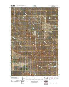 Twin Buttes School Montana Historical topographic map, 1:24000 scale, 7.5 X 7.5 Minute, Year 2011