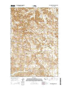 Twin Forks Reservoir Montana Current topographic map, 1:24000 scale, 7.5 X 7.5 Minute, Year 2014