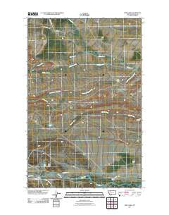 Twin Lakes Montana Historical topographic map, 1:24000 scale, 7.5 X 7.5 Minute, Year 2011
