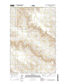 Upper Cracker Box School Montana Current topographic map, 1:24000 scale, 7.5 X 7.5 Minute, Year 2014