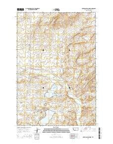 Upper Glaston Lake Montana Current topographic map, 1:24000 scale, 7.5 X 7.5 Minute, Year 2014