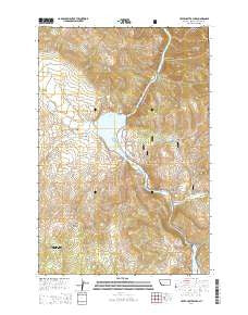 Upper Holter Lake Montana Current topographic map, 1:24000 scale, 7.5 X 7.5 Minute, Year 2014
