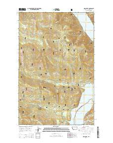 Ural Creek Montana Current topographic map, 1:24000 scale, 7.5 X 7.5 Minute, Year 2014