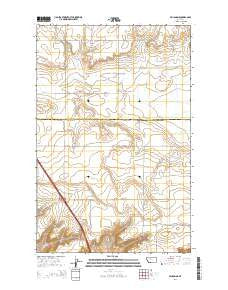 Vaughn NE Montana Current topographic map, 1:24000 scale, 7.5 X 7.5 Minute, Year 2014