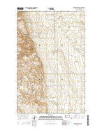 Vaver Reservoir Montana Current topographic map, 1:24000 scale, 7.5 X 7.5 Minute, Year 2014 from Montana Map Store