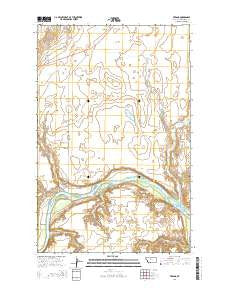 Verona Montana Current topographic map, 1:24000 scale, 7.5 X 7.5 Minute, Year 2014