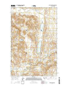 Veseth Reservoir Montana Current topographic map, 1:24000 scale, 7.5 X 7.5 Minute, Year 2014