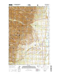 Victor Montana Current topographic map, 1:24000 scale, 7.5 X 7.5 Minute, Year 2014