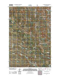 Waterhole Creek Montana Historical topographic map, 1:24000 scale, 7.5 X 7.5 Minute, Year 2011