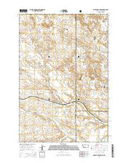 Waterhole Creek Montana Current topographic map, 1:24000 scale, 7.5 X 7.5 Minute, Year 2014 from Montana Maps Store