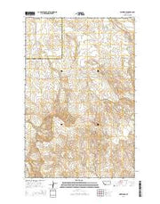 Watkins SE Montana Current topographic map, 1:24000 scale, 7.5 X 7.5 Minute, Year 2014 from Montana Maps Store