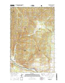 Weeksville Montana Current topographic map, 1:24000 scale, 7.5 X 7.5 Minute, Year 2014
