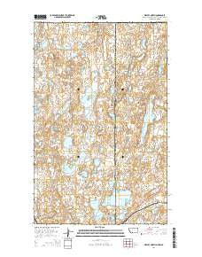 Westby North Montana Current topographic map, 1:24000 scale, 7.5 X 7.5 Minute, Year 2014