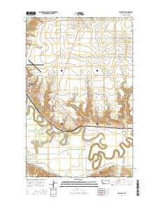 Whately Montana Current topographic map, 1:24000 scale, 7.5 X 7.5 Minute, Year 2014