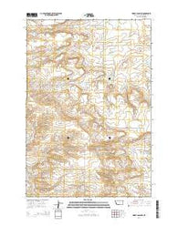 Wheat Basin SW Montana Current topographic map, 1:24000 scale, 7.5 X 7.5 Minute, Year 2014
