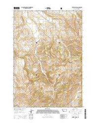 Whiskey Spring Montana Current topographic map, 1:24000 scale, 7.5 X 7.5 Minute, Year 2014