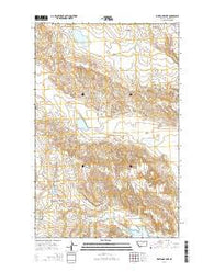 Whitcomb Lake Montana Current topographic map, 1:24000 scale, 7.5 X 7.5 Minute, Year 2014
