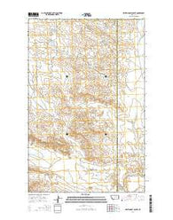 White Horse Coulee Montana Current topographic map, 1:24000 scale, 7.5 X 7.5 Minute, Year 2014