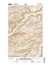 White Man Coulee Montana Current topographic map, 1:24000 scale, 7.5 X 7.5 Minute, Year 2014