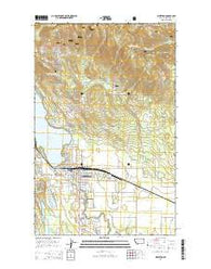 Whitefish Montana Current topographic map, 1:24000 scale, 7.5 X 7.5 Minute, Year 2014
