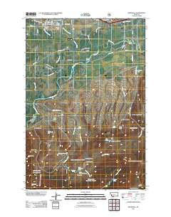 Whitehall Montana Historical topographic map, 1:24000 scale, 7.5 X 7.5 Minute, Year 2011