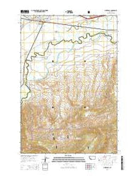 Whitehall Montana Current topographic map, 1:24000 scale, 7.5 X 7.5 Minute, Year 2014