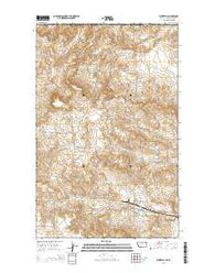 Whitetail Montana Current topographic map, 1:24000 scale, 7.5 X 7.5 Minute, Year 2014