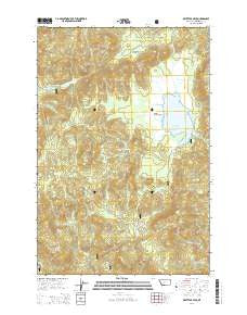 Whitetail Peak Montana Current topographic map, 1:24000 scale, 7.5 X 7.5 Minute, Year 2014