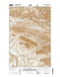 Whitetail Reservoir Montana Current topographic map, 1:24000 scale, 7.5 X 7.5 Minute, Year 2014