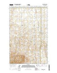 Whitlash Montana Current topographic map, 1:24000 scale, 7.5 X 7.5 Minute, Year 2014